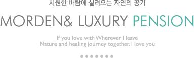시원한 바람에 실려오는 자연의 공기 morden & luxury pension If you love with Wherever I leave Nature and healing journey together. I love you